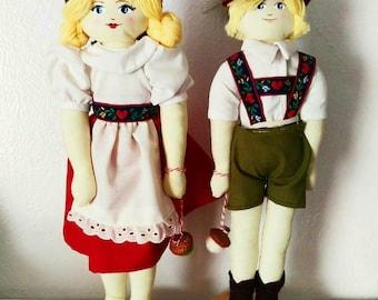 Hansel and Gretel Art Dolls