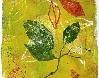 Monoprint No.1, botanical original art