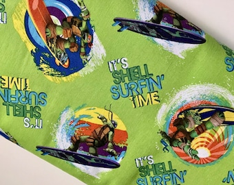 Teenage Mutant Ninja Turtles Surfin Time Cotton Woven By The Yard