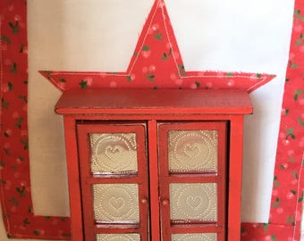 Miniature Dollhouse Furniture Pie Safe-1:12 scale