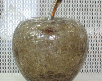 Large Handblown Art Glass Apple