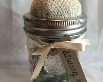 Sewing Kit/ Mason Jar Sewing Kit/ Christmas Themed Mending Kit