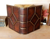 RESERVED: Custom leather journal, Brown leather with Copper decoration