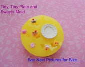 Dollhouse Miniatures Mold, Mini Sweets Mold, Tiny Food, Silicone Mold, Plate Mold, Miniatures, Resin Mold, Polymer Clay Mold