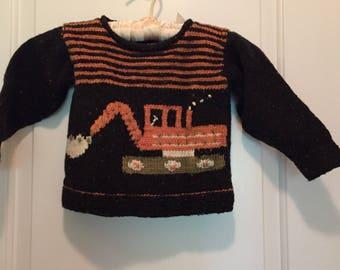 Boys handknit sweater