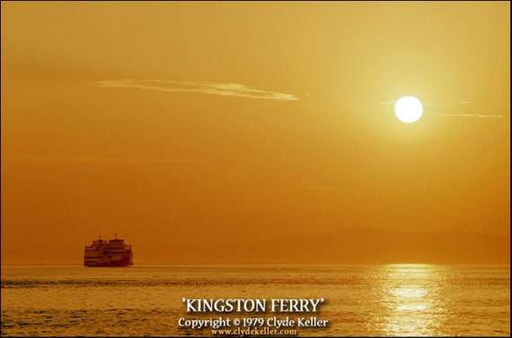 KINGSTON FERRY, Puget Sound, Koadachrome, Clyde Keller 1980 photo