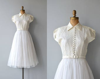 Sweet Nothing wedding gown | vintage 1950s wedding dress | lace 50s wedding dress