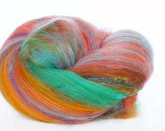 Zion 3.8 oz  Wool - Merino // Art Batt // Wool Art Batt for spinning or needle felting