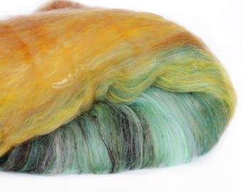 Dragon Fire 3.4 oz  Wool - Merino // Art Batt // Wool Art Batt for spinning or needle felting