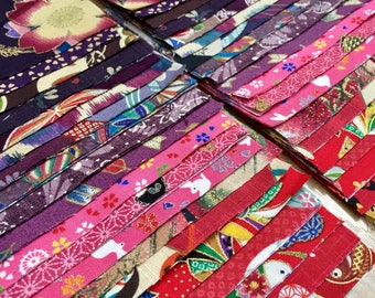 fb679b8b283 Japanese Quilt Fabric, Cotton Charm Pack, Asian Quilting Fabric, Japanese  Cotton, Japanese Quilt Kit, 20 red/purple Japanese Cotton Prints