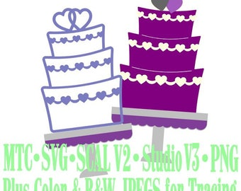 Wedding Cake #01 Cut Files MTC SVG SCAL Format and more traceable