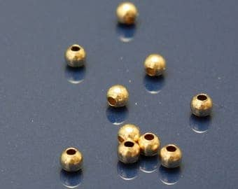 SALE 10% OFF Gold Filled Spacer Beads 2mm Round  - Select Pack Size
