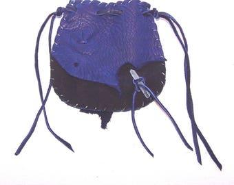 Beautiful Deerskin Medicine Bag ..PURPLE