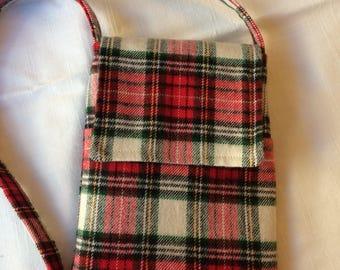 Shoulder Bag - Red Plaid