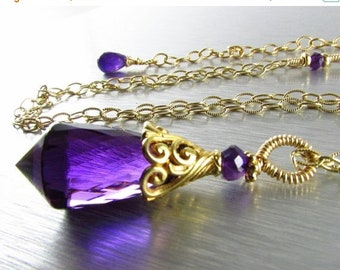 15 Off Amethyst Luxe Necklace - Soul Surviver