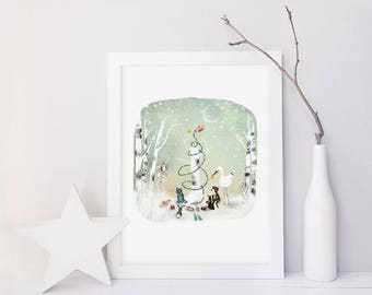 10% Off - Summer SALE An Enchanted Christmas (alternative version) - Deluxe Edition Print