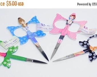 SAVE 30% LOW STOCK NeedleCraft Scissors , Embroidery Scissors, Angel Scissors - Slight Flaw on paint work.