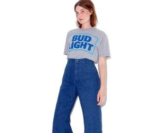vintage 70s 80s BUD LIGHT SHIRT / Budweiser shirt beer shirt original vintage bud light tee tshirt t shirt super soft paper thin