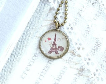 Travel Charm Necklace Eiffel Tower Necklace Paris Necklace Small Charm Necklace Eiffel Tower Gift