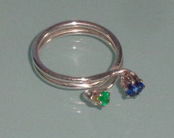 Emerald London Blue Topaz Sterling Silver Ring