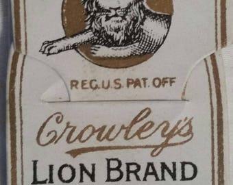 LOT of Lion Brand needles, vintage antique,  NOS, original packaging,  12 packages