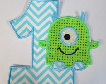 Iron On Applique - Lil Monster Birthday