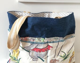 Denim Tote/ Market Bag/ Handbag/ Purse