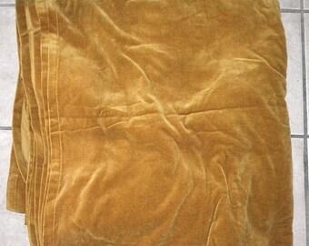 Lovely Antique Velvet Fabric Mustard Gold