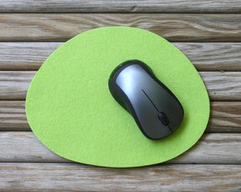 Pebble Wool Felt Mousepad Modern Minimalist Organic Shape Cute Mouse Pad in 5mm Thick Merino Wool Felt Desk Computer Accessories Deskie