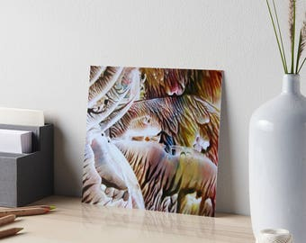 Encaustic Dripping Rainbows Art Board / Art for Small Spaces / Collectible Small Format Art / Made to Order in 3 Sizes