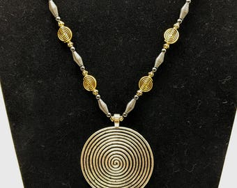 Spiral Pendant Necklace