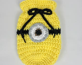 Minion drawstring bag, yellow and black dice bag, gamer, geeky,