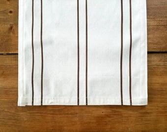 CLEARANCE - sale - table runner - grainsack - grain sack - chocolate stripe