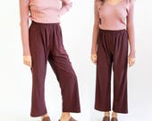 dance me to the edge of love -- vintage 70s/80s burgundy wide leg pants S
