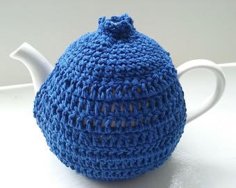 Teapot Cosy 6-8 cup A Medium Teapot made in a lovely Royal Blue.Cotton Kitchenware.