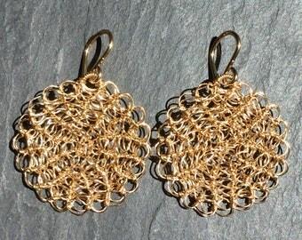 Gold Fill Disk Earrings