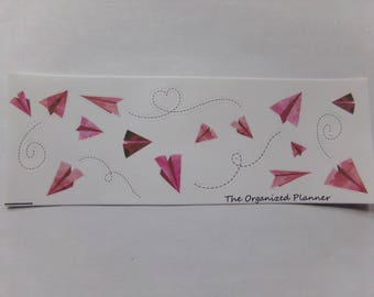 Paper Airplane Stickers / Great Stickers for your Erin Condren Life Planner / Scrapbooking / Crafting