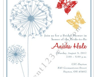 Butterfly and Dandoline Invitation
