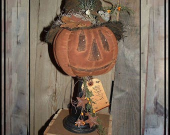 SALE Mailed paper pattern Primitive folkart pumpkin with mouse make do pattern HAFAIR ofg faap Haguild 109
