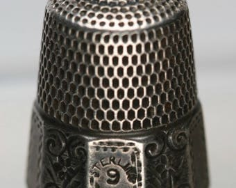 Antique Simons Bros Sterling Thimble