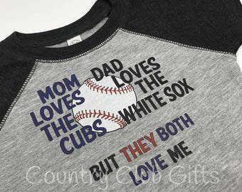 House Divided, Sox, Cubs t shirt, baseball shirt. bodysuit shirt, baby gift, sports rivals, team, Chicago