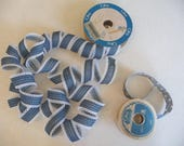 Vintage Ribbon, Country Ribbons, Blue Ribbon, Two Partial Rolls, Craft Supplies, Sewing, Lace Trim, Geese, Country Cottage, Offray Brand