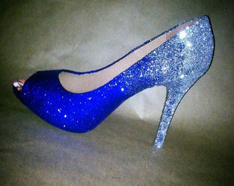 Sparkling and shimmering ombré heels! Any colors...style...or size.