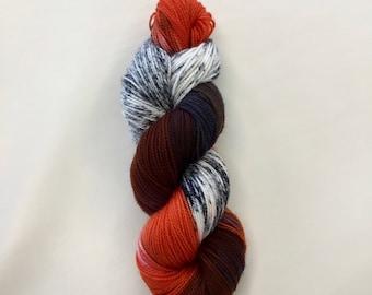 Hairy Spider Legs - Hand-dyed Merino Sock Wool -