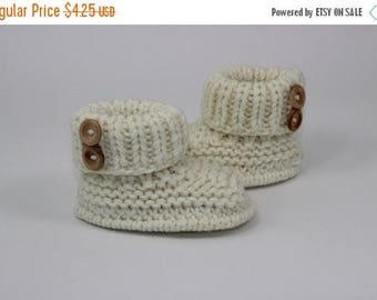 40% OFF SALE Instant Digital File PDF Download - Baby Chunky 2 Button  Booties knitting pattern