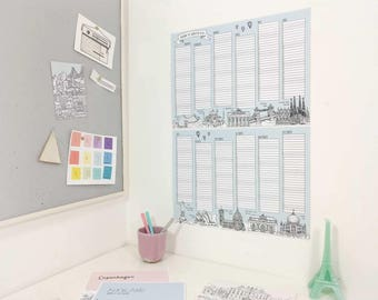 2018 Wall Planner   2018 Wall Chart   2018 Calendar   Unique Christmas Gift   Whole Year Planner   2018 Year Planner   2018 Schedule