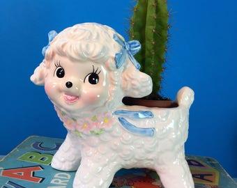 Lamb Planter - Vintage Lamb Planter - Ceramic Plant Pot - Nursery - Cute - Kitsch
