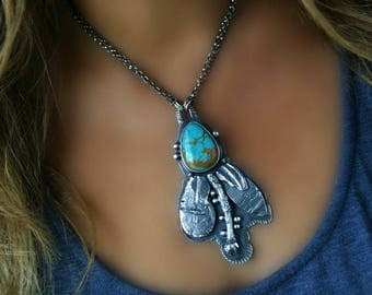 Life of the Earth - King's Masnassa Turquoise Sterling Silver Necklace