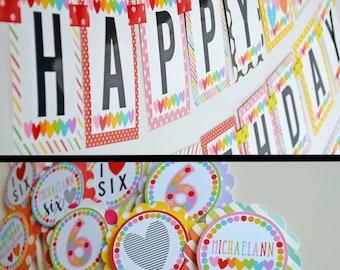 Rainbow Hearts Birthday Party Fully Assembled Decorations | Hearts Birthday Party | Rainbow Party | Rainbow Decorations | Rainbow Hearts