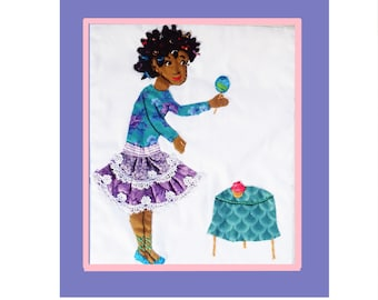Bree Wall Hanging,  Custom Made Nursery Decor of Fancy Nancy's Best Friend/Book Character/or Mighty Girl Tooth Fairy Cushion
